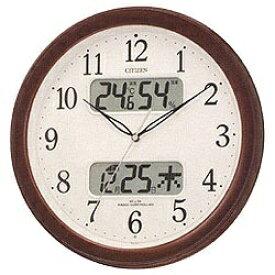 リズム時計 RHYTHM 掛け時計 【ネムリーナカレンダーM01】 茶メタリック 4FYA01-006 [電波自動受信機能有][4FYA01006]