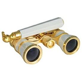 サファリ SAFARI 3倍双眼鏡「SA-59CF-HD 3×25mm」 オペラグラス(パールホワイト・柄付き)[SA59CFHD3X25]