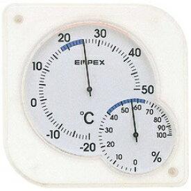 エンペックス EMPEX INSTRUMENTS TM-5601 温湿度計 シュクレmidi(ミディ) クリアホワイト [アナログ][TM5601]