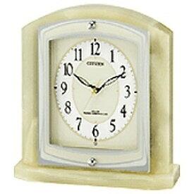 リズム時計 RHYTHM 置き時計 【パルラフィーネR400】 緑 8RY400-005 [電波自動受信機能有][8RY400005]
