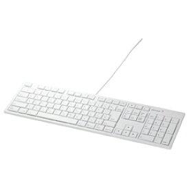 BUFFALO バッファロー BSKBM01WH キーボード ホワイト [USB /コード ][BSKBM01WH]