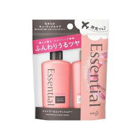 花王 Kao Essential(エッセンシャル) ふんわりうるツヤ髪 シャンプー&コンディショナーミニセット 45ml×2本