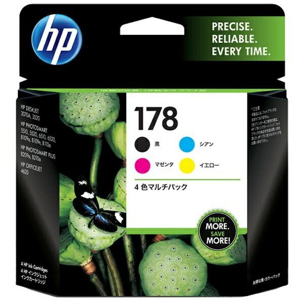 HP 【純正】 HP178(4色) インクカートリッジ CR281AA