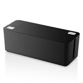 エレコム ELECOM 燃えにくいケーブルボックス (幅400mm・ブラック) EKC-BOX001BK[EKCBOX001BK]
