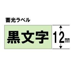 キングジム テプラ(TEPRA) 蓄光ラベルテープ (蓄光テープ/黒文字/12mm幅) SY12YD