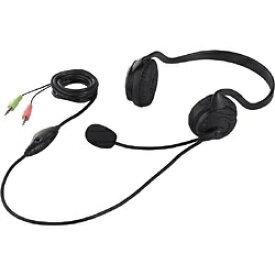 BUFFALO バッファロー BSHSN02BK ヘッドセット ブラック [φ3.5mmミニプラグ /両耳 /ネックバンドタイプ]