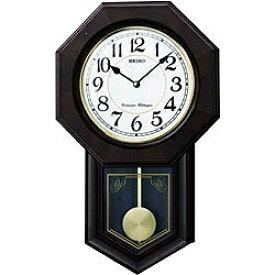 セイコー SEIKO 掛け時計 チャイム&ストライク 濃茶木地塗装 RQ325B