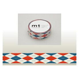 カモ井加工紙 KAMOI mt マスキングテープ(アーガイル・レッド) MT01D162