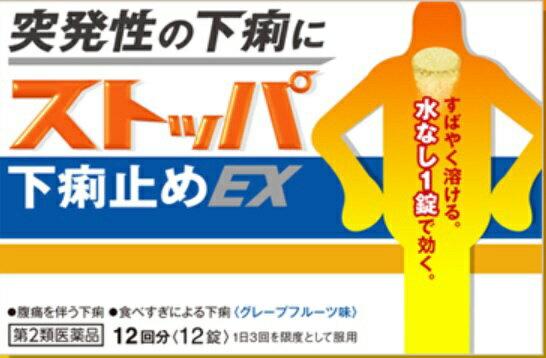 【第2類医薬品】 ストッパ下痢止めEX(12回分)〔下痢止め〕LION ライオン