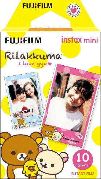 富士フイルム FUJIFILM チェキ インスタントカラーフィルム instax mini 絵柄入りフレーム 「リラックマ」 1パック(10枚入)