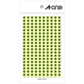 エーワン A-one カラーラベル 緑 07063 [9シート /200面 /光沢]【aoneC2009】