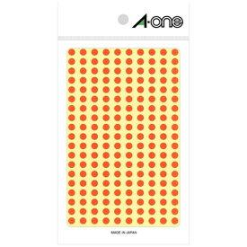 エーワン A-one カラーラベル 橙 07065 [9シート /200面 /光沢]【rb_mmmg】