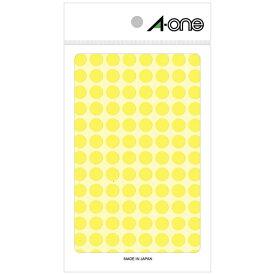 エーワン A-one カラーラベル 特殊ラベル 蛍光黄 08173 [4シート /104面]【rb_mmmg】