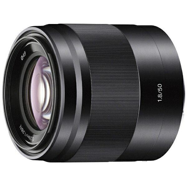 【送料無料】 ソニー 交換レンズ E 50mm F1.8 OSS(ブラック)【ソニーEマウント(APS-C用)】[SEL50F18BC]
