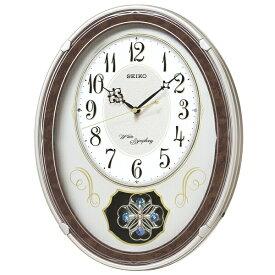 セイコー SEIKO からくり時計 【ウェーブシンフォニー】 薄金色パール AM259B [電波自動受信機能有]