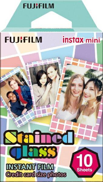 富士フイルム FUJIFILM チェキ インスタントカラーフィルム instax mini 絵柄入りフレーム 「ステンドグラス」 1パック(10枚入)
