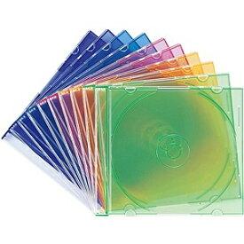 サンワサプライ SANWA SUPPLY Blu-ray/DVD/CD対応スリム収納ケース 1枚収納×10 5色 FCD-PU10MX[FCDPU10MX]