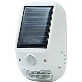 ヤザワ YAZAWA 【防雨型】屋外用ソーラー式LEDセンサーライト NL57WH ホワイト