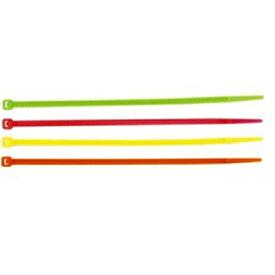 ヤザワ YAZAWA カラー束ねるバンド[長さ:200mm](黄緑・ピンク・黄色・オレンジ/20本入り) FTC200C20