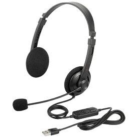 BUFFALO バッファロー BSHSUH12BK ヘッドセット ブラック[USB /両耳 /ヘッドバンドタイプ]