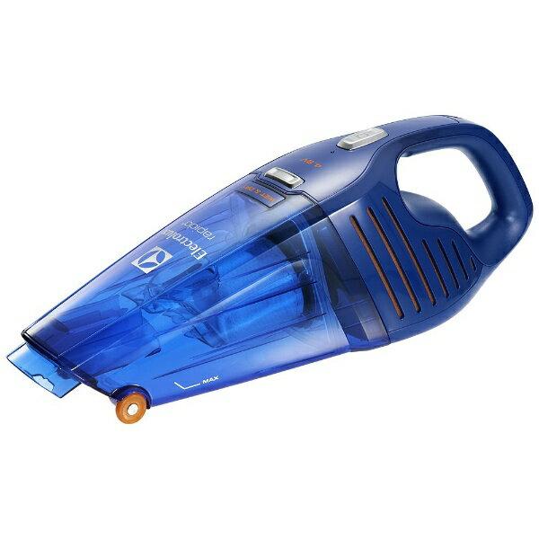 【送料無料】 エレクトロラックス Electrolux ZB5104WD ハンディクリーナー rapido Wet & Dry(ラピード ウェットアンドドライ) ディープブルー [紙パックレス式 /コードレス][ZB5104WD]