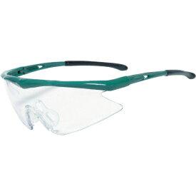 トラスコ中山 一眼型安全メガネ スポーツタイプ フレームグリーン レンズクリア TSG1856GR