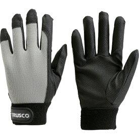 トラスコ中山 PU厚手手袋 LLサイズ グレー TPUGGLL