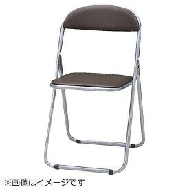 トラスコ中山 折りたたみパイプ椅子 ウレタンレザーシート貼り ブラウン FC2000TS《※画像はイメージです。実際の商品とは異なります》