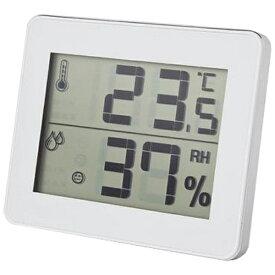 ヤザワ YAZAWA DO01WH 温湿度計 ホワイト [デジタル][DO01WH]