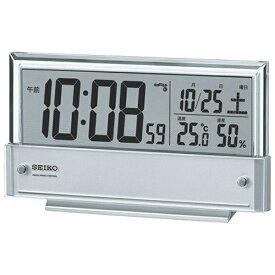 セイコー SEIKO 目覚まし時計 銀色メタリック SQ773S [デジタル /電波自動受信機能有][SQ773S]