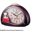 リズム時計 目覚まし時計 「スヌーピー」 4SE506MJ09