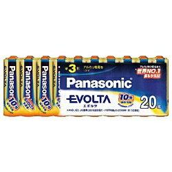 パナソニック Panasonic LR6EJ/20SW 【単3形】20本 アルカリ乾電池 「エボルタ」LR6EJ/20SW[LR6EJ20SW] panasonic