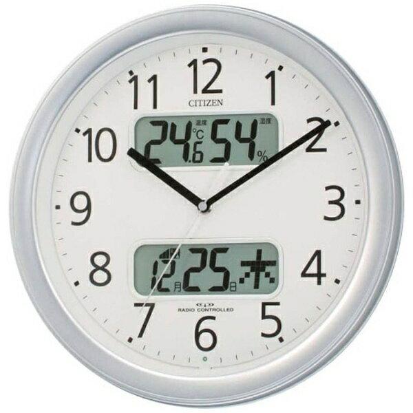 リズム時計 RHYTHM 電波掛け時計 「ネムリーナカレンダー」 4FYA01-019[4FYA01019]