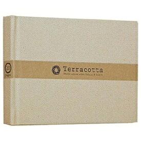 ナカバヤシ Nakabayashi ブック式 布クロスフリーアルバム「テラコッタ」(L判1段/ホワイト) TER-L1B-110-W[TERL1B110W]