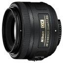 ニコン Nikon カメラレンズ AF-S DX NIKKOR 35mm f/1.8G APS-C用 NIKKOR(ニッコール) ブラック [ニコンF /単焦点レ…