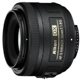 ニコン Nikon カメラレンズ AF-S DX NIKKOR 35mm f/1.8G APS-C用 NIKKOR(ニッコール) ブラック [ニコンF /単焦点レンズ][AFSDX35MMF18G]