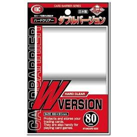 KMC カードバリアー ダブルバージョン(クリアー) 80枚入り