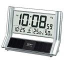 【送料無料】 セイコー 電波置き時計 SQ690S シルバー 【メーカー直送・代金引換不可・時間指定・返品不可】