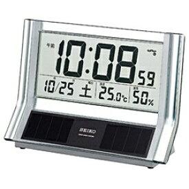 セイコー SEIKO 置き時計 【ハイブリッドソーラー】 銀色メタリック SQ690S [電波自動受信機能有][SQ690S]