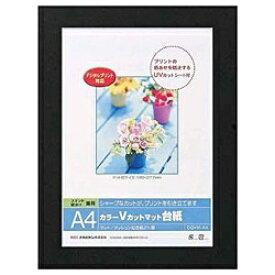 ナカバヤシ Nakabayashi Vカットマット台紙 Digio (A4/ブラック) DGVM-A4-D[DGVMA4D]