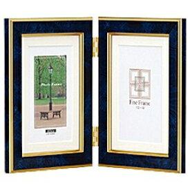 ナカバヤシ Nakabayashi 樹脂製写真立「マーブル(大理石調)」(KG判タテ+KG判タテ/ブルー) フ-TP-155-B[フTP155B]