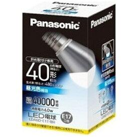 パナソニック Panasonic LDA6D-E17/BH LED電球 斜め取付け専用 小形電球形 ホワイト [E17 /昼光色 /1個 /40W相当 /一般電球形][LDA6DE17BH]