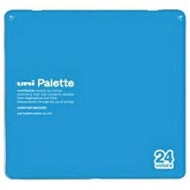 三菱鉛筆 MITSUBISHI PENCIL [色鉛筆] No.880 uni Palette 水色 24色 K88024CPLT.8[K88024CPLT.8]