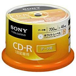 ソニー SONY 1〜48倍速対応 データ用CD-Rメディア (700MB・50枚) 50CDQ80GPWP