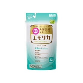 花王 Kao emollica(エモリカ) 薬用スキンケア入浴液 ハーブの香り つめかえ用 360ml 〔入浴剤〕