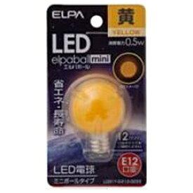 ELPA エルパ LDG1Y-G-E12-G233 LED装飾電球 ミニボール電球形 LEDエルパボールmini ホワイト [E12 /黄色 /1個 /ボール電球形][LDG1YGE12G233]