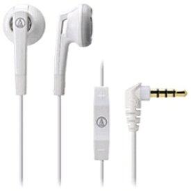 オーディオテクニカ audio-technica イヤホン インナーイヤー型 WH ホワイト ATH-C505I [リモコン・マイク対応 /φ3.5mm ミニプラグ][ATHC505IWH]