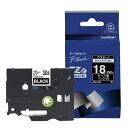 ブラザー brother ピータッチ (P-touch) ラミネートテープ TZe TAPE 黒 TZe-345 [白文字 /15mm幅][TZE345]
