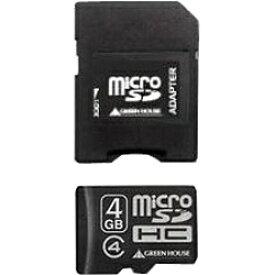 グリーンハウス GREEN HOUSE microSDHCカード GH-SDMRHC*4シリーズ GH-SDMRHC4G4? [4GB /Class4][GHSDMRHC4G4]
