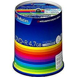 三菱化学メディア 1-16倍速対応データ用DVD-Rメディア(4.7GB・100枚) DHR47JP100V3
